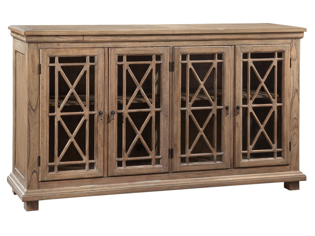 Hekman Accents and OccassionalLattice Front Entertainment Console