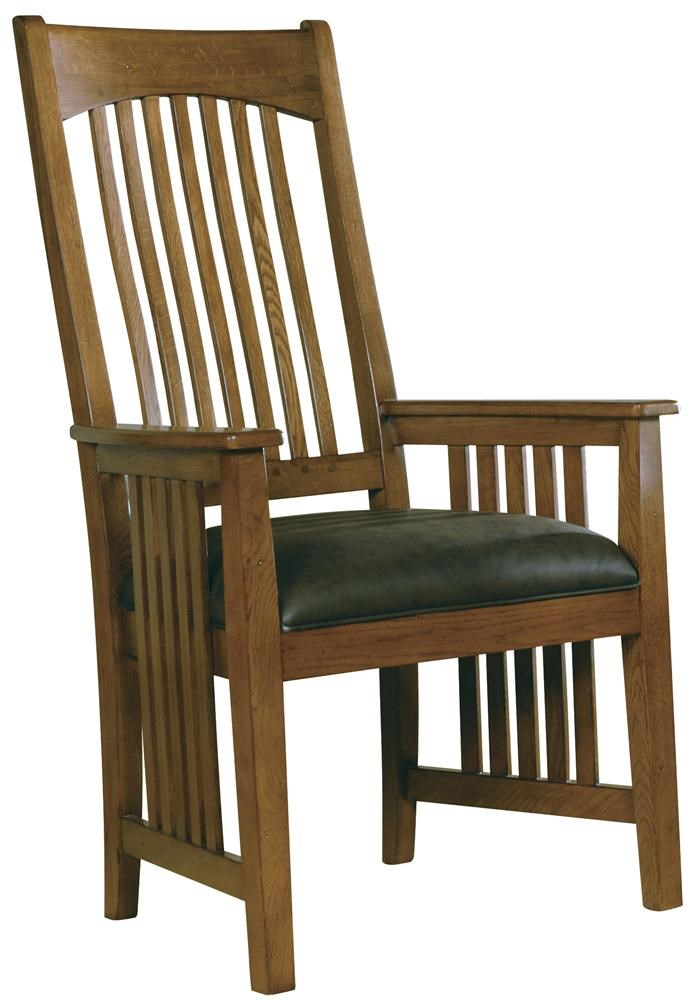 hekman arts and crafts dining arm chair boulevard home furnishings rh boulevardhomefurnishings com
