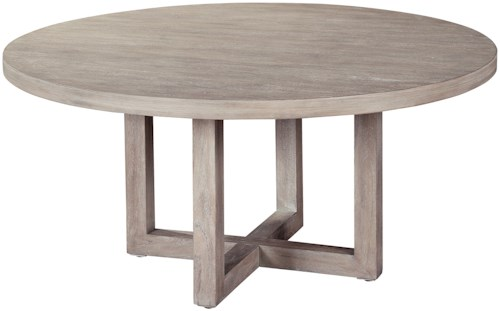Hekman Berkeley Heights Round Coffee Table with X-Base