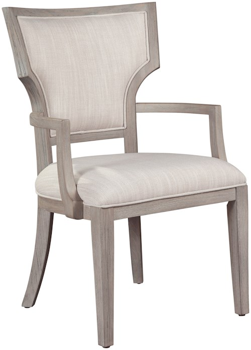 Hekman Berkeley Heights Upholstered Fan Back Dining Arm Chair
