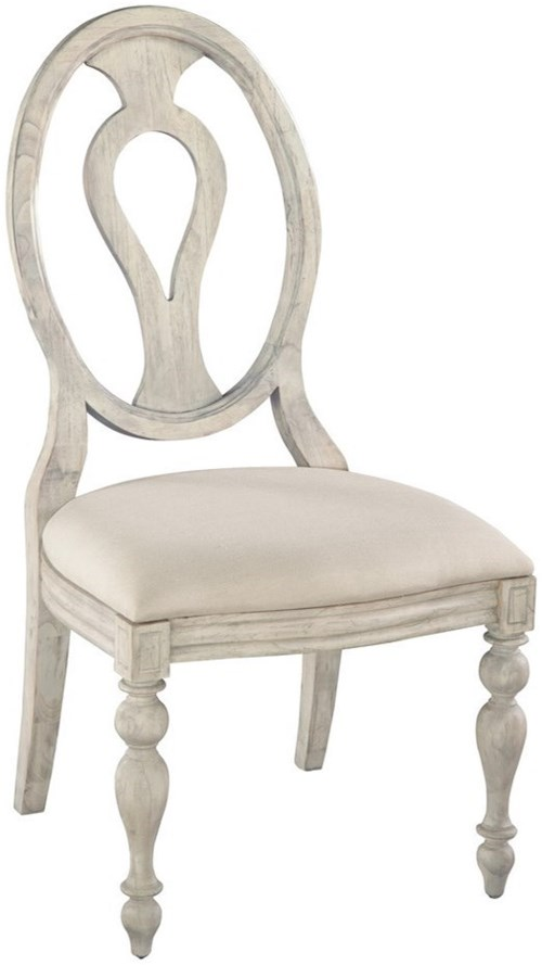 Hekman Homestead Oval Back Side Chair With Upholstered Seat