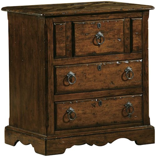 Hekman Rue de Bac 3-Drawer Storage Lamp Table