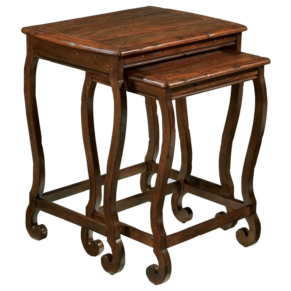 Hekman Rue De Bac Traditional Nesting Tables With Distressed Finish