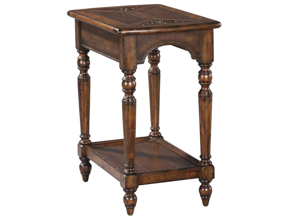 Hekman Villa Valencia Traditional Rich Brown Vintage Side Table