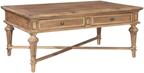 Hekman Wellington Hall Rectangular Coffee Table with Two Drawers