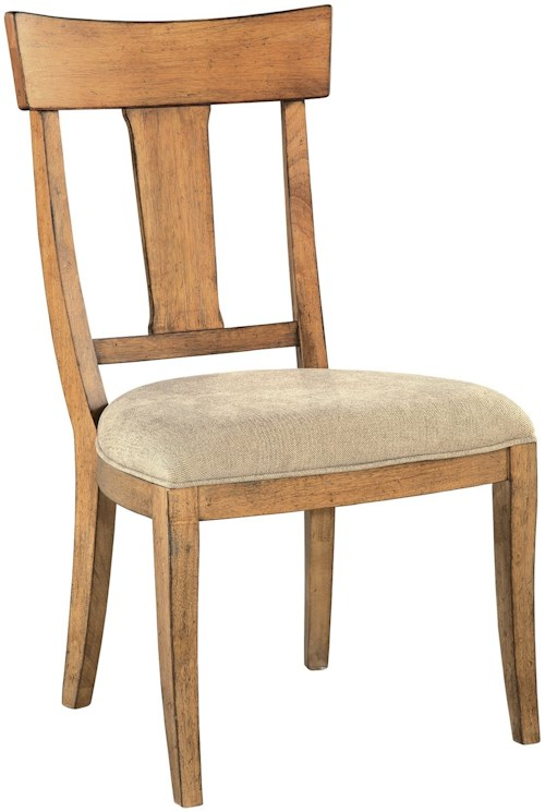 Hekman Wellington Hall Wood T-Back Side Chair with Upholstered Seat
