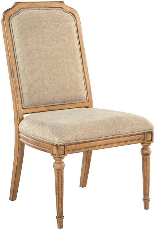 Hekman Wellington Hall Upholstered Side Chair with Wood Frame