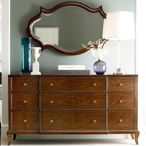 Henredon Acquisitions Paris Dresser with 9 Drawers and Mirror