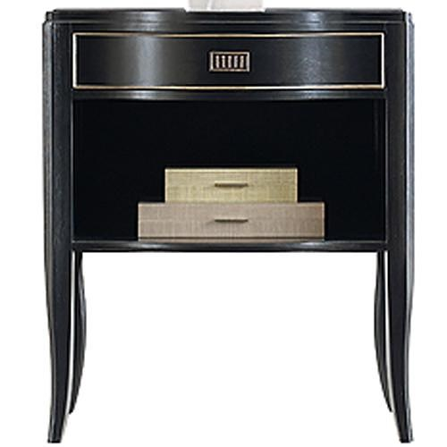 Henredon Acquisitions Paris Elise Night Stand with 1 Drawer and 1 Storage Compartment