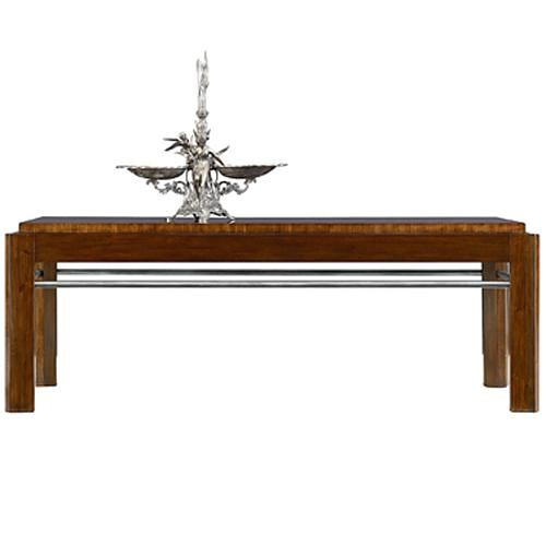 Henredon Acquisitions Paris Garen Cocktail Table with Nickel Plated Brass Stretcher