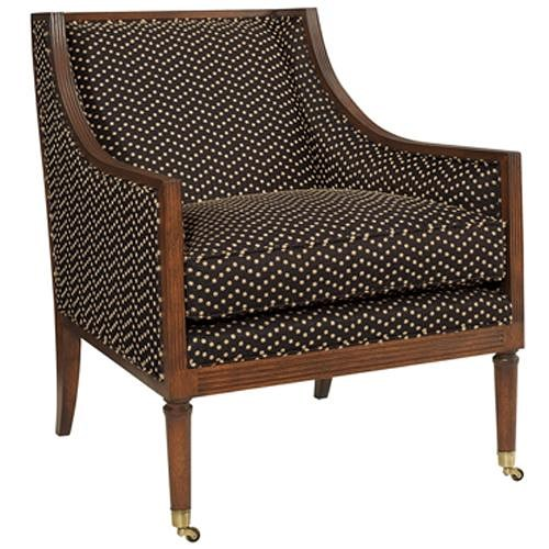 Henredon Acquisitions Upholstery Kensington Chair With Casters