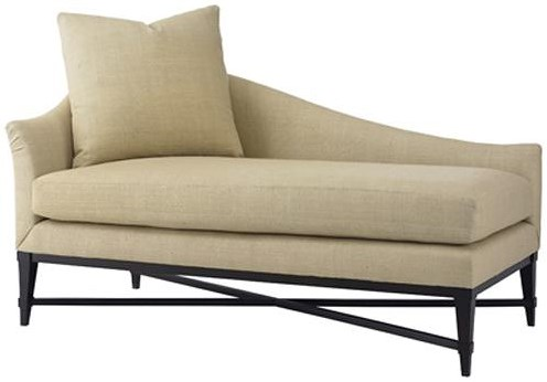 Henredon Acquisitions Upholstery Chaise With Throw Pillow