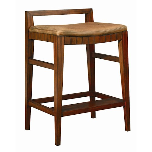 Henredon Acquisitions Bar Stool with Upholstered Seat