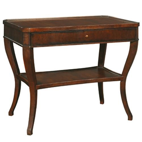 Henredon Acquisitions End Table with 1 Drawer and 1 Shelf