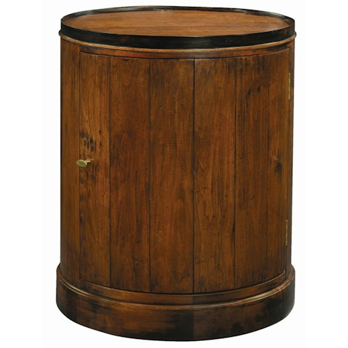 Henredon Acquisitions Round Slide Table with One Door