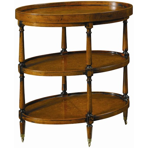 Henredon Acquisitions Chairside Table with Two Shelves