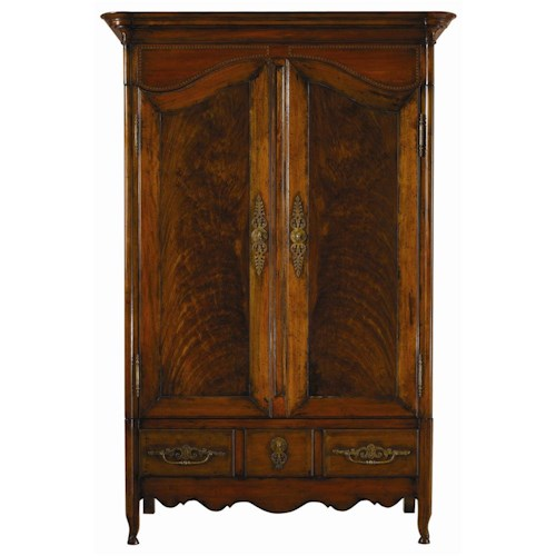 Henredon Acquisitions Armoire with Two Doors and Three Drawers