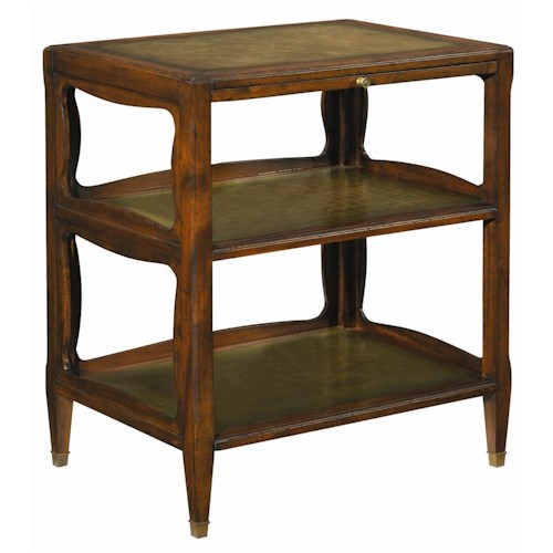Henredon Acquisitions End Table with Two Fixed Shelves