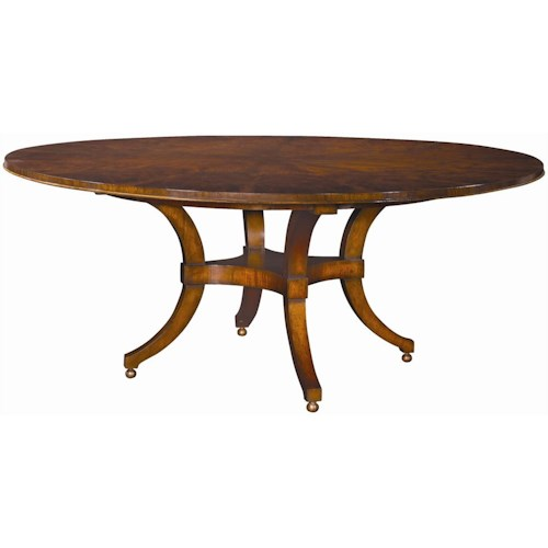 Henredon Acquisitions Round Dining Table with Ball Feet