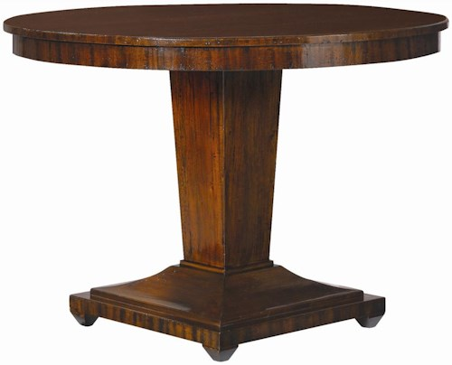 Henredon Acquisitions Round Center Table with Single Pedestal