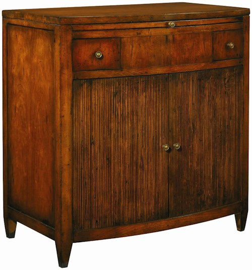 Henredon Acquisitions Small Chest with Pull-Out Serving Shelf