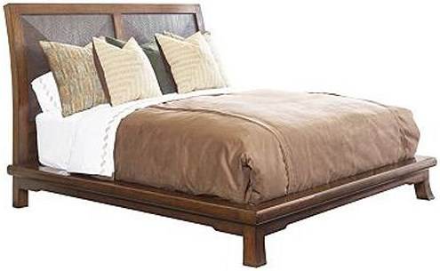Henredon Acquisitions California King Bed with Flared Feet