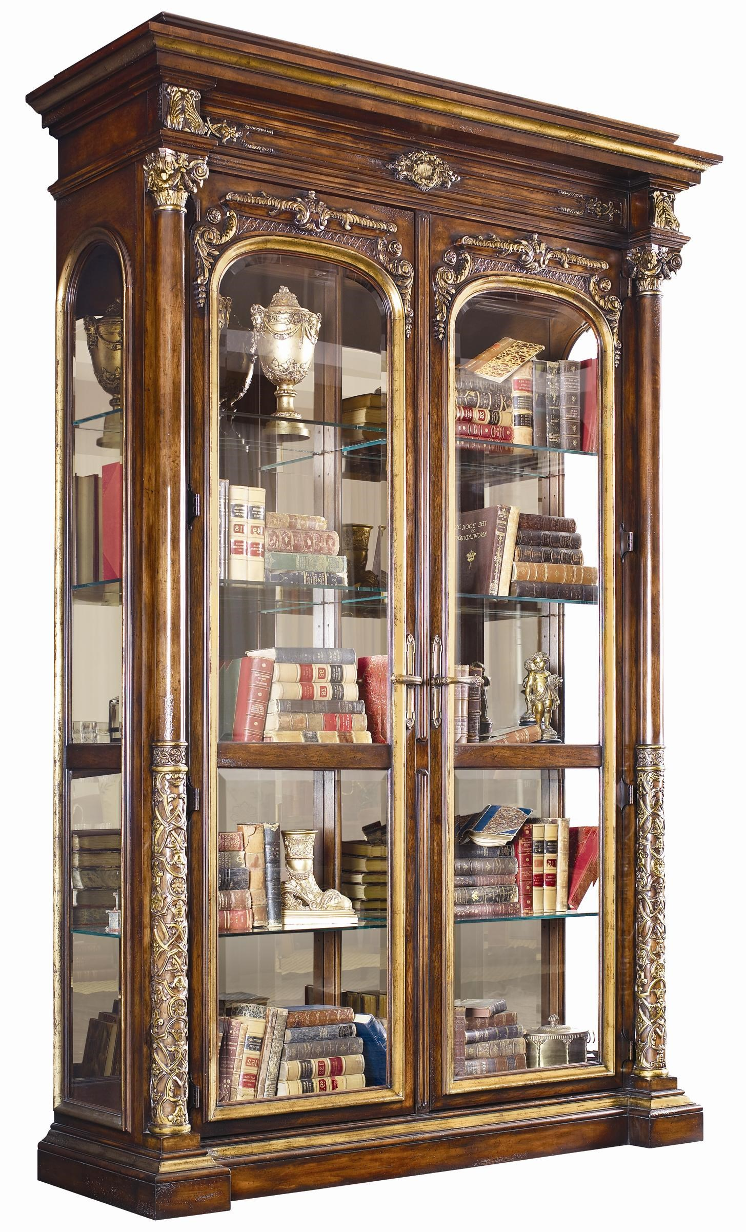 Henredon Arabesque Curio With Solar Bronze Mirrored Back Panel |  Jacksonville Furniture Mart | Curio Cabinets