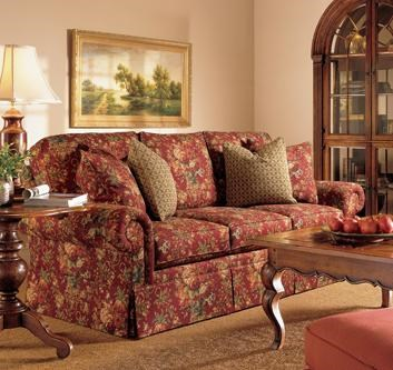 Henredon Fireside Upholstery Customizable Sofa With Lawson Arms