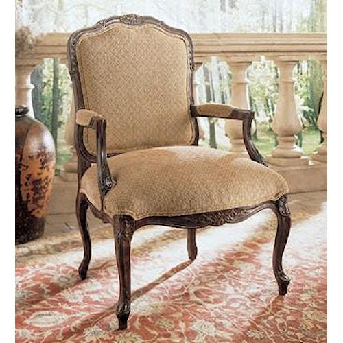 Exposed Wood Furniture ~ Henredon upholstery greta traditional exposed