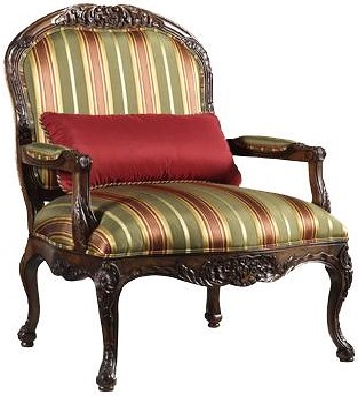Henredon Henredon Upholstery Deborah Accent Arm Chair with Exposed Wood