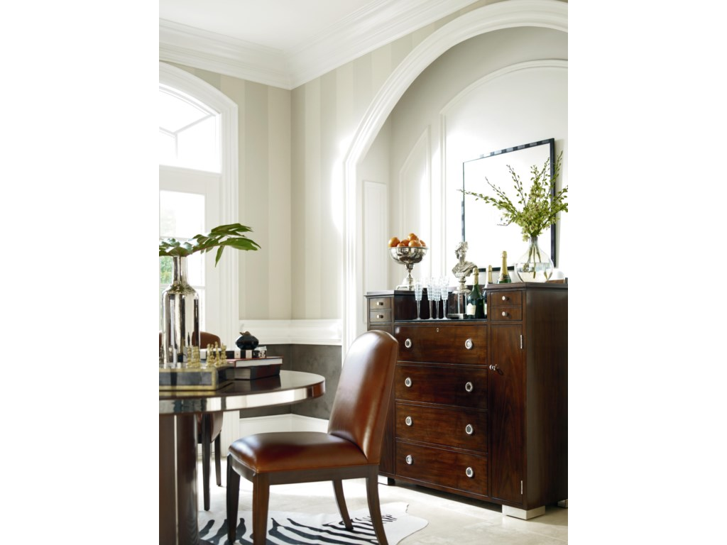 Henredon Scene Six Dining Side Chair With Tapered Legs