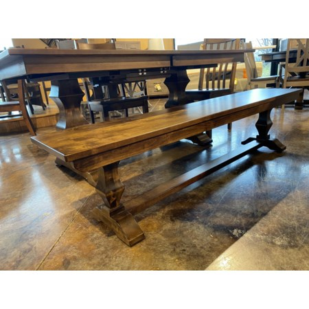 Customizable Solid Wood Dining Bench