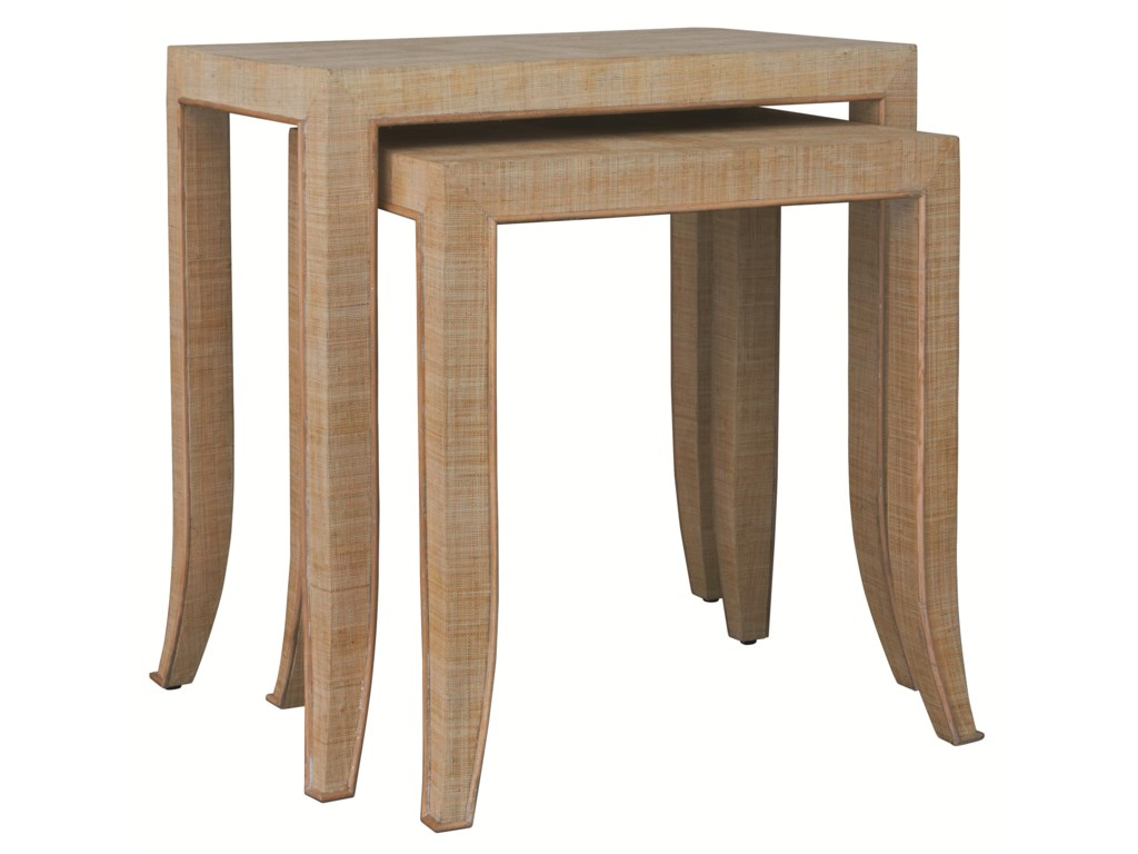 accents by hgtv home small raffia wrapped nesting accent tables by hgtv home furniture collection - Small Sofa End Tables