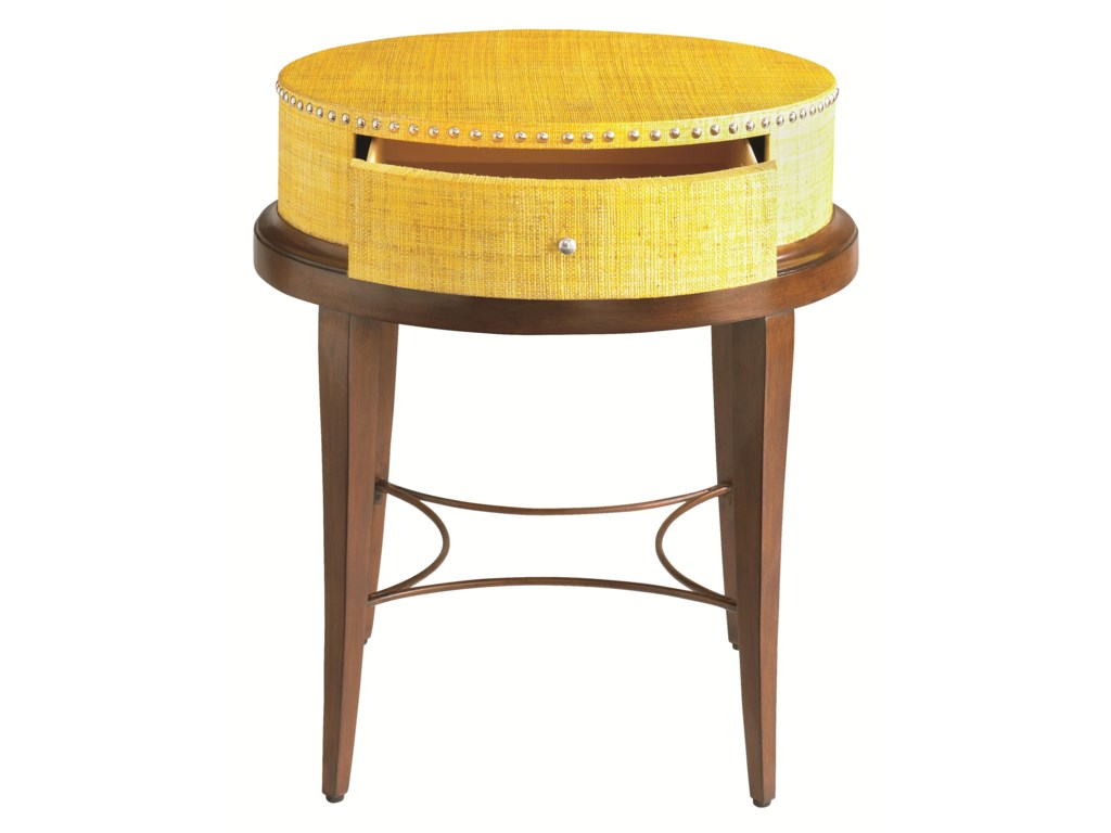 HGTV Home Furniture Collection Accents by HGTV HOMERaffia Accent Table