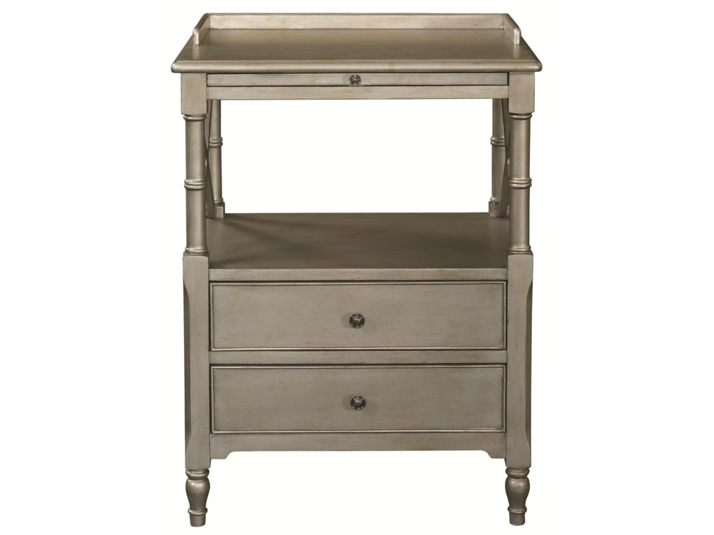 HGTV Home Furniture Collection Accents by HGTV HOMEAntique Silver End Table