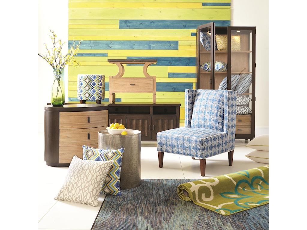 HGTV Home Furniture Collection Accents by HGTV HOMERound Antique Nickel Pedestal