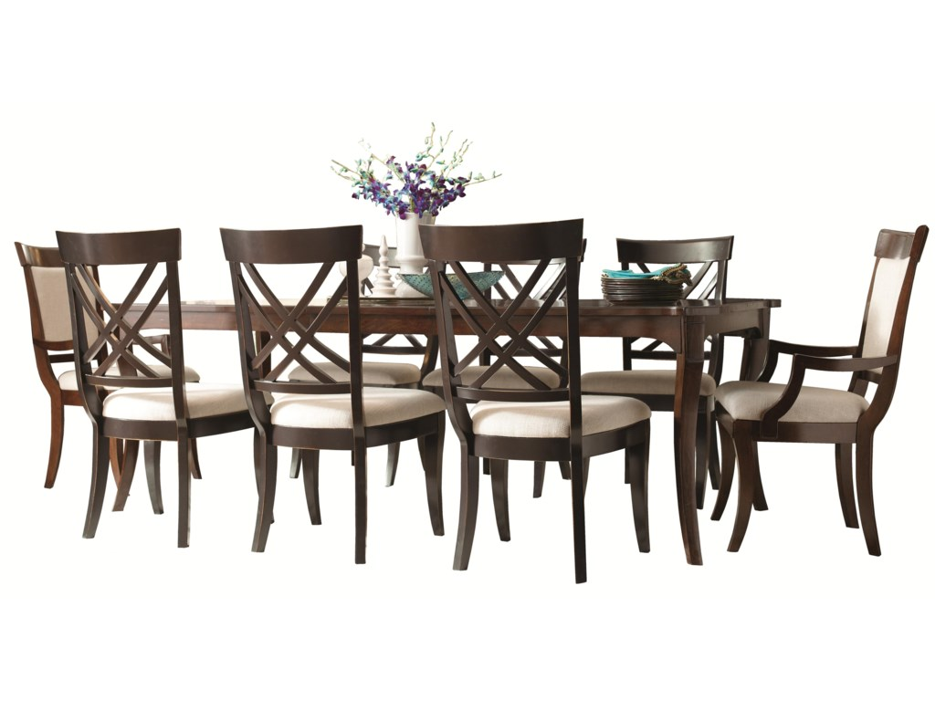 Shown with Coordinating Collection X Back Arm Chairs and Side Chairs