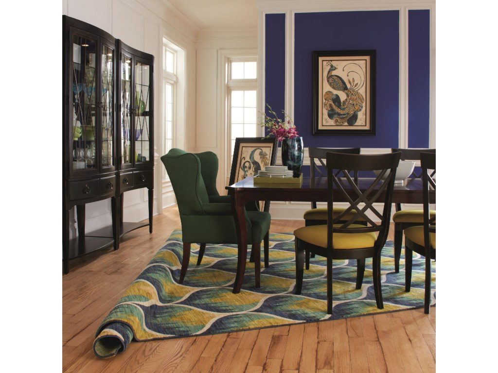 Shown with Coordinating X Back Side Chairs, Concave and Convex Dining Chest Set and Coordinating Accent Items