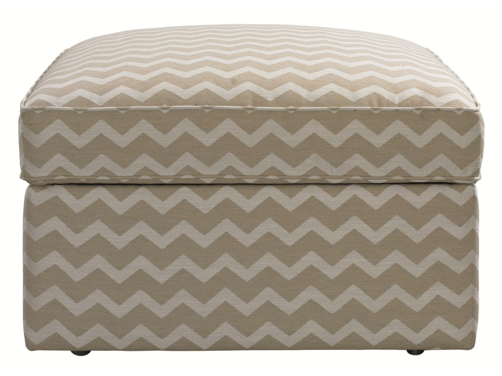 HGTV Home Furniture Collection Upholstery Square Storage Ottoman