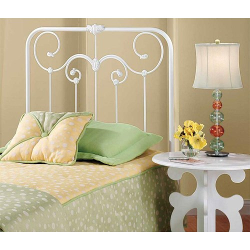 Hillsdale Metal Beds Lacey Twin Headboard: White