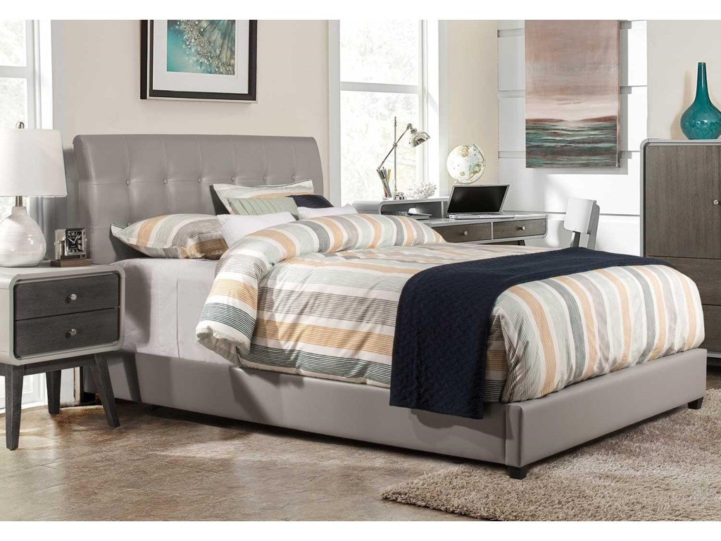 Hillsdale 1945LussoTwin Faux Leather Bed