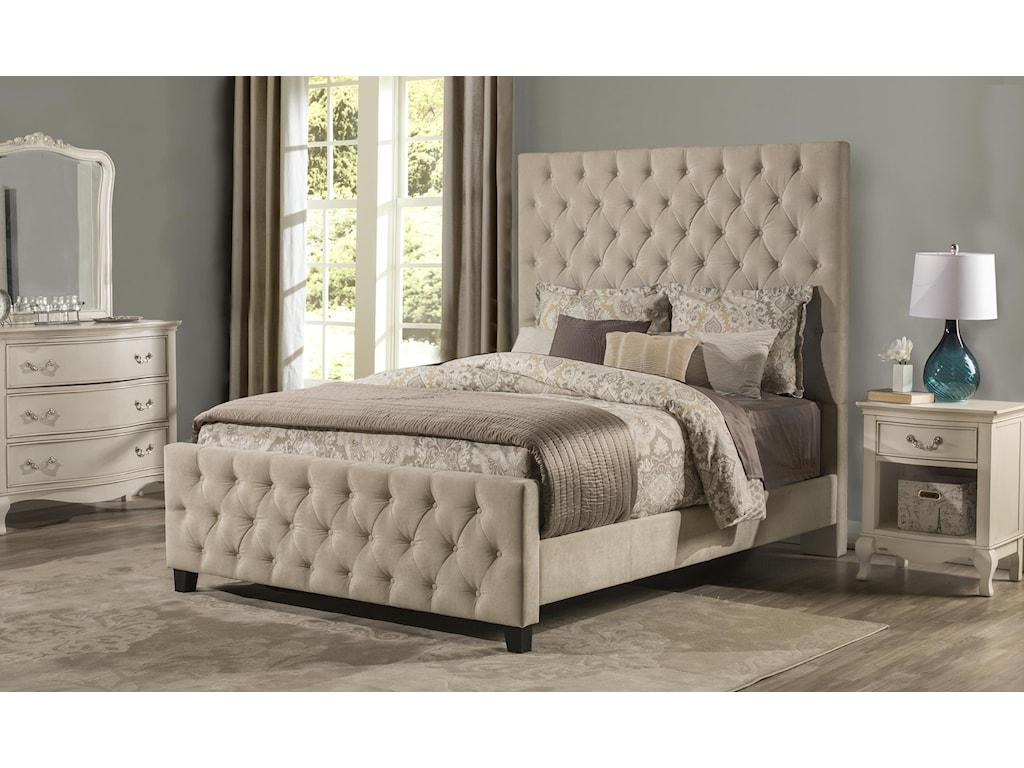 Hillsdale 2163High Back Upholstered King Bed