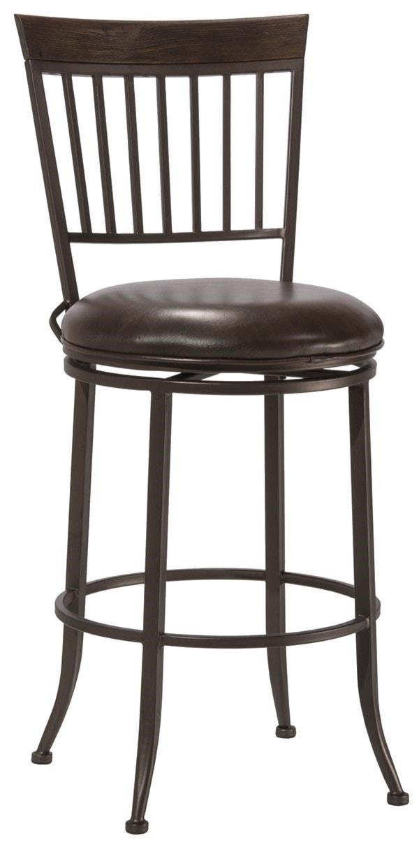 Hillsdale 4795 Hawkins 4795 827 24 Swivel Bar Stool Furniture