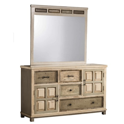 Hillsdale Accents Dresser with Skeleton Key Hardware