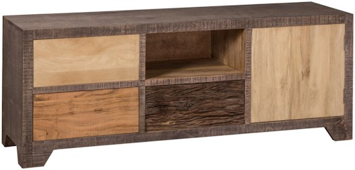 Hillsdale Accents Rustic TV Stand with Natural Hues