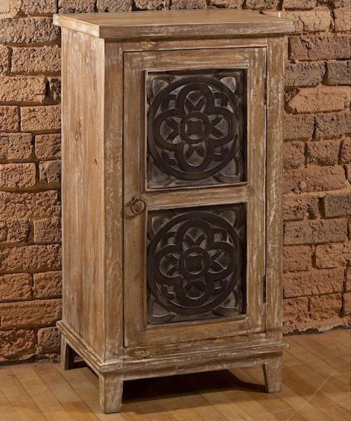 Hillsdale Accents Three Tier Cabinet with Medallion Design Door