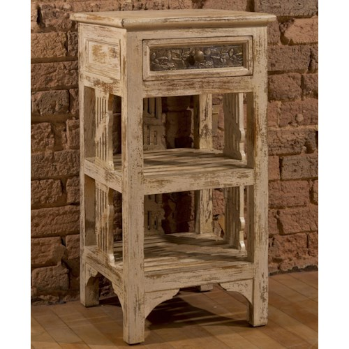 Hillsdale Accents End Table with Two Shelves and Distressed Finish