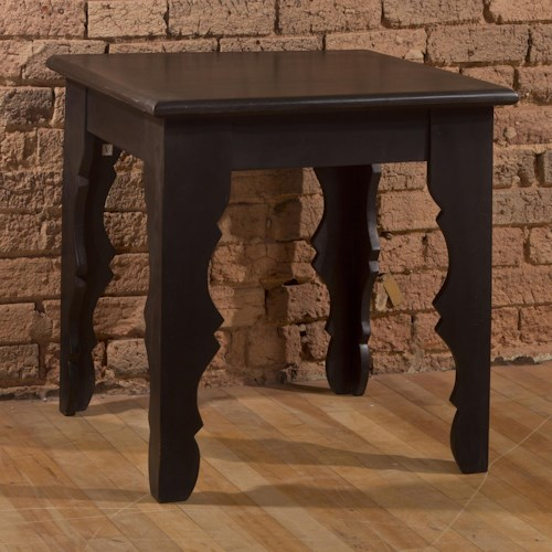 Hillsdale Accents Square End Table with Distressed Finish