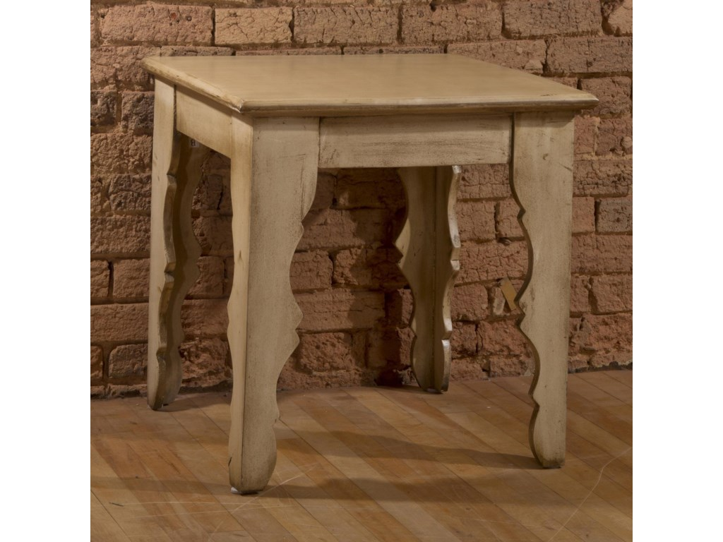 Morris Home AccentsEnd Table with Distressed Finish