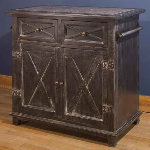 Hillsdale Accents X Design Kitchen Island with Two Drawers